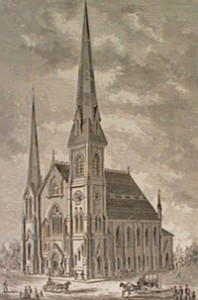 Old drawing of Wesley Monumental